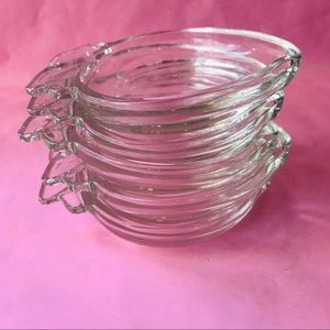 Vintage Dining - Vintage thick glass dishes